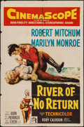 "Movie Posters:Western, River of No Return (20th Century Fox, 1954). One Sheet (27"" X 41"").Western.. ..."