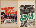 "Movie Posters:Crime, Roger Touhy, Gangster & Other Lot (20th Century Fox, 1944).Window Cards (2) (14"" X 22""). Crime.. ... (Total: 2 Items)"