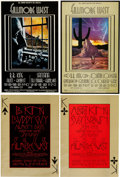 Music Memorabilia:Posters, B. B. King and Albert King Fillmore West Concert Poster Group (BillGraham, 1969-70).... (Total: 4 Items)