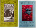 Music Memorabilia:Posters, Grateful Dead Fillmore West Concert Poster Group (Bill Graham,1969-70)....