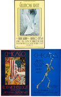 Music Memorabilia:Posters, Chicago Fillmore West/Winterland Concert Poster Group (Bill Graham,1969-70).... (Total: 3 Items)