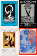 Music Memorabilia:Posters, Fillmore West Concert Poster Group (Bill Graham, 1970-71)....(Total: 4 Items)