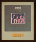 Music Memorabilia:Awards, Bread Baby I'm A Want You Platinum Record Award (ElektraEKS-75015, 1972)....
