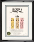 Music Memorabilia:Tickets, Led Zeppelin Group of Unused Concert Tickets, Chicago 1980....