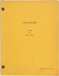 "Movie/TV Memorabilia:Documents, A 'Retakes and Added Scenes' Script from ""Gone With The Wind.""..."