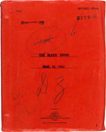 "Movie/TV Memorabilia:Documents, A Script from ""The Black Swan.""..."