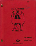 "Movie/TV Memorabilia:Documents, A Script from ""Doctor Dolittle.""..."