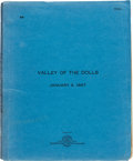 """Movie/TV Memorabilia:Documents, A Script from """"The Valley of the Dolls.""""..."""