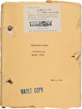 "Movie/TV Memorabilia:Documents, A Script from ""Mysterious Island.""..."