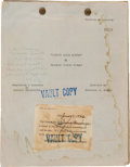 """Movie/TV Memorabilia:Documents, A Lon Chaney-Related Script from """"Quincy Adams Sawyer.""""..."""