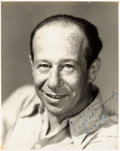 Movie/TV Memorabilia:Autographs and Signed Items, A Bert Lahr Signed Black and White Photograph, 1938....