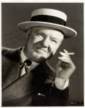 Movie/TV Memorabilia:Autographs and Signed Items, A W.C. Fields Signed Black and White Photograph, Circa 1930s....