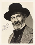 Movie/TV Memorabilia:Autographs and Signed Items, A Gabby Hayes Oversized Signed Black and White Photograph, 1945....