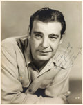 Movie/TV Memorabilia:Autographs and Signed Items, A Lon Chaney, Jr. Oversized Signed Black and White Photograph,1943....