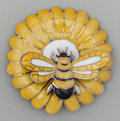 Silver Smalls, A MARGOT DE TAXCO SILVER AND ENAMEL BEE BROOCH, Taxco, Mexico,circa 1948-1978. Marks: MARGOT DE TAXCO, STERLING, MADE IN...
