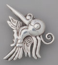 Silver Smalls:Other , A WILLIAM SPRATLING SILVER BIRD PIN, Taxco, Mexico, circa1940-1946. Marks: WS, SPRATLING, MADE IN MEXICO, STERLING.1-1...