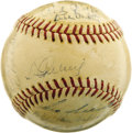 Autographs:Baseballs, 1938 New York Yankees Team Signed Baseball. After running away with the American League flag, the Bombers made short work o...