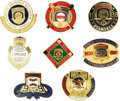 Baseball Collectibles:Others, 1983-90 Baseball Hall of Fame Press Pins Lot of 8. Not even the slightest flaw to be found amidst this gleaming assortment ...