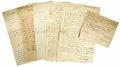 Autographs:Military Figures, George Washington's Aides-de-Camp Group of six documents signed byRevolutionary War officers, who notably served as aides t...(Total: 6 Item)