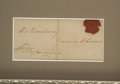 Autographs:U.S. Presidents, George Washington Signed Cover, Including His Family Seal....