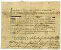 "Autographs:Statesmen, John Augustine Washington Document Signed and countersigned byWilliam Augustine Washington. One page, 7.5"" x 6"", August..."