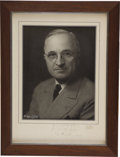 Autographs:U.S. Presidents, Harry S. Truman Photograph Inscribed and Signed on Mat, May 8,1945-his 61st birthday and V-E Day ...