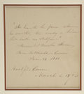 Autographs:Authors, Harriet Beecher Stowe Autograph Document Signed....