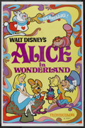 "Movie Posters:Animated, Alice in Wonderland (Buena Vista, R-1981). One Sheet (27"" X 41""). Animated. ..."