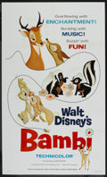 "Movie Posters:Animated, Bambi (Buena Vista, R-1966). One Sheet (27"" X 41""). Animated. ..."