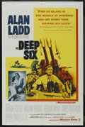 "Movie Posters:War, The Deep Six (Warner Brothers, 1958). One Sheet (27"" X 41""). War...."