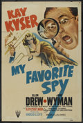 "Movie Posters:Comedy, My Favorite Spy (RKO, 1942). One Sheet (27"" X 41""). Comedy. ..."