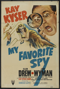 "My Favorite Spy (RKO, 1942). One Sheet (27"" X 41""). Comedy"