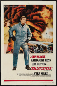 """Hellfighters (Universal, 1969). One Sheet (27"""" X 40.5""""). Action"""