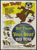 "Movie Posters:Animated, Hey There, It's Yogi Bear (Columbia, 1964). One Sheet (27"" X 41""). Animated. ..."