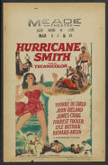 "Movie Posters:Adventure, Hurricane Smith (Paramount, 1952). Window Card (14"" X 22"").Adventure. ..."