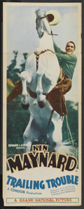 """Movie Posters:Western, Trailing Trouble (Grand National, 1937). Insert (14"""" X 36""""). Western. ..."""