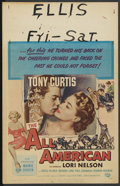 "Movie Posters:Sports, The All American (Universal International, 1953). Window Card (14"" X 22""). Sports...."
