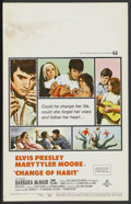 "Movie Posters:Elvis Presley, Change of Habit (Universal, 1969). Window Card (14"" X 22""). ElvisPresley. ..."