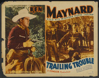 """Trailing Trouble (Grand National, 1937). Half Sheet (22"""" X 28"""") Style A. Western"""