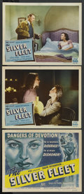 "Movie Posters:War, The Silver Fleet (PRC, 1945). Title Lobby Card and Lobby Cards (2)(11"" X 14""). War. ... (Total: 3 Items)"