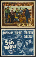 "Movie Posters:Adventure, The Sea Wolf (Warner Brothers, 1941). Lobby Card (11"" X 14"") andTitle Lobby Card (R-1947). Adventure.... (Total: 2 Items)"
