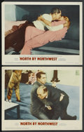 "Movie Posters:Hitchcock, North by Northwest (MGM, 1959). Lobby Cards (2) (11"" X 14"").Hitchcock. ... (Total: 2 Items)"