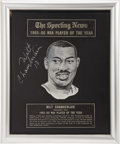 Basketball Collectibles:Others, 1965-66 Wilt Chamberlain NBA Player of the Year Award. One of themost significant basketball pieces to reach the auction b...