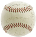 Autographs:Baseballs, 1951 New York Yankees Team Signed Baseball. The departing Joltin' Joe takes his rightful place upon the sweet spot of this ...