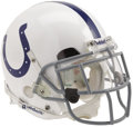 Football Collectibles:Helmets, 2005 Edgerrin James Game Worn Helmet. After seven productive seasons with the Colts, the superstar running back has moved t...