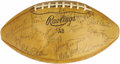 Football Collectibles:Balls, 1963 NFL Pro Bowl Multi-Signed Football. A crowd of more than 60,000 packed Los Angeles' Memorial Coliseum on January 13, 1...