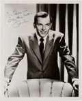 Movie/TV Memorabilia:Autographs and Signed Items, A Frank Sinatra Signed Black and White Photograph, Circa 1950s....
