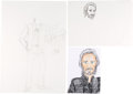 Music Memorabilia:Original Art, The Who - John Entwistle Self-Portrait Artworks....