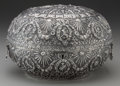 Silver & Vertu:Hollowware, A PERSIAN SILVER LOCK BOX, early 20th century. Marks: (cypher). 7-1/4 x 11-1/2 x 8-1/4 inches (18.4 x 29.2 x 21.0 cm). 31.3 ...