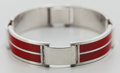 Silver Smalls:Other , A GUCCI SILVER AND ENAMEL BRACELET, circa 1970. Marks: GUCCI,ITALY, 925. 2-1/4 inches diameter (5.7 cm). 1.27 troy ounc...
